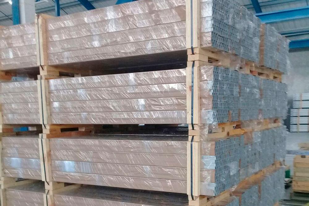 Empaque de Perfiles de Aluminio